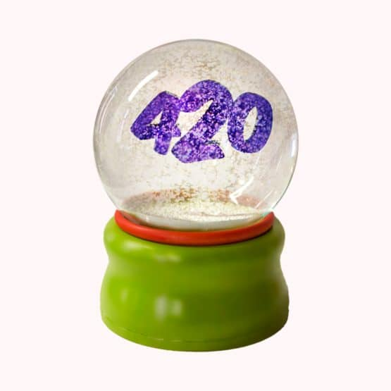 Standard Smoke Gets In Your Eyes snow globe