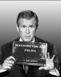 Line Up Bush Administration Mug Shots