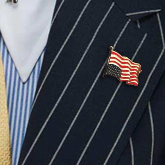 Dress for Distress Flag Pin